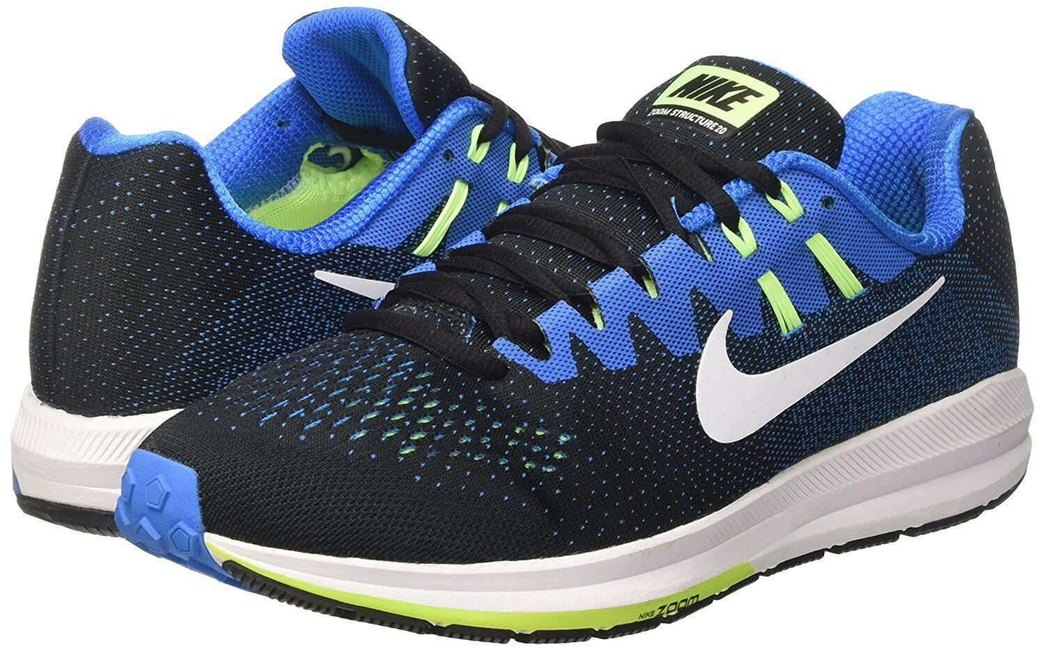 Men's Nike Air Zoom Structure 20 Running shoes, 849576 004 Multip Sizes Black Wh