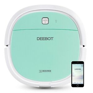 Ecovacs-Deebot-Mini-2-Compact-Floor-Vacuum-amp-Dry-Mopping-Cleaning-Robot-Green