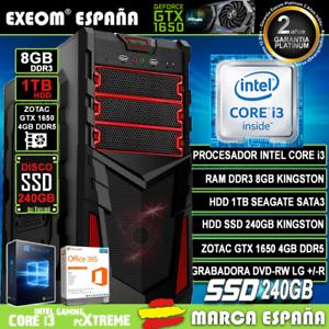 Ordenador-Gaming-Pc-Intel-i3-8GB-1TB-SSD-240GB-GTX1650-4Gb-Wifi-de-sobremesa