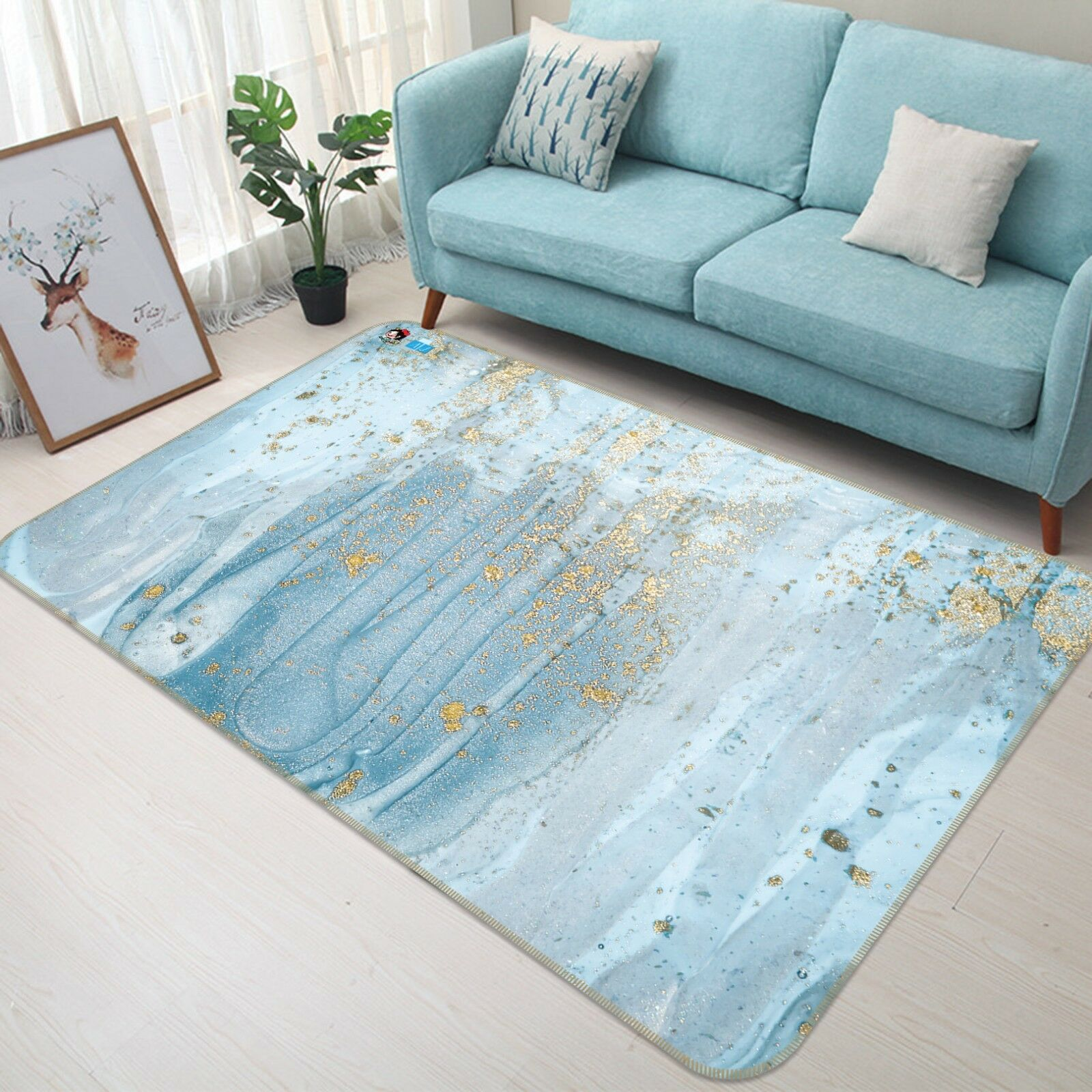 3D Blau Water Texture 77 Non Slip Rug Rug Rug Mat Room Mat Quality Elegant Photo Carpet 077157