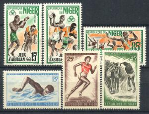 Niger-1962-63-Neuf-100-Sport-jeux-Abidjan-Dakar