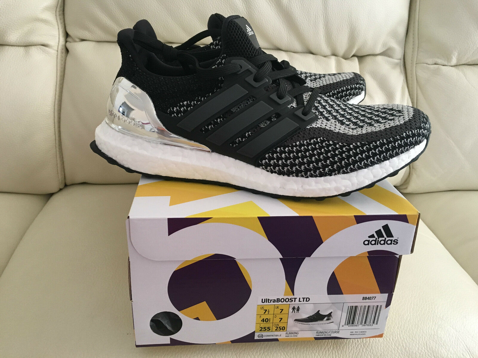 ADIDAS ULTRABOOST ULTRA BOOST SILVER OLYMPIC PACK SIZE UK 11.5 NEW