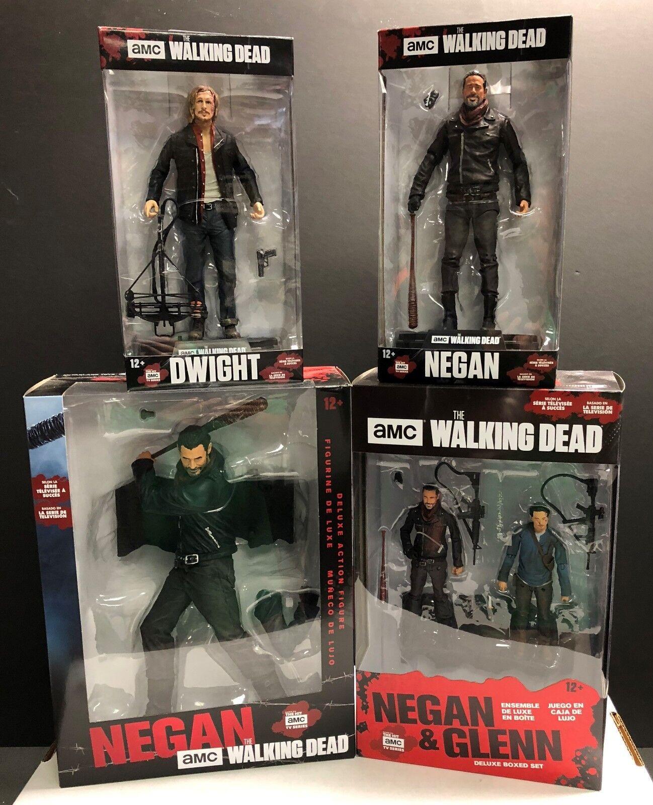 McFarlane Toys Toys Toys Walking Dead Negan Collection Set of 4 Dwight Glenn Negan NIB 40561e