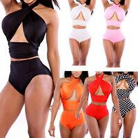 Damen Sexy Bandeau Bikini Set Push Up Badeanzug Beach Swimwear Bademode S M L XL