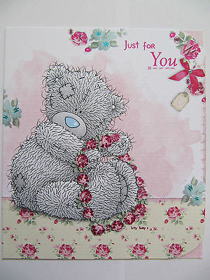 ME TO YOU TATTY TED HEARTS /& FLOWERS COLOURFUL BIRTHDAY GREETING CARD