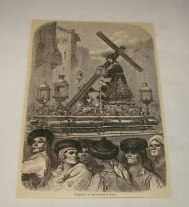 1879-magazine-engraving-PROCESSION-OF-PASSION-IN-SPAIN