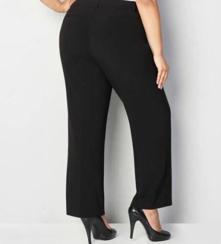 Avenue Plus SizeTrouser Pants with No Gap WaistBlackNew!