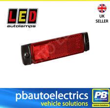 24V 3 LED LED Autolamps 129RM Trailer Rear Marker Light Lamp Red 12