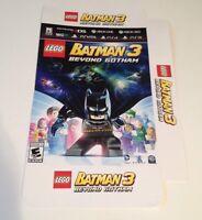 Rare- Batman- Beyond Gotham - Lego Promo Display Poster Box 16x12x3 ( No Game)