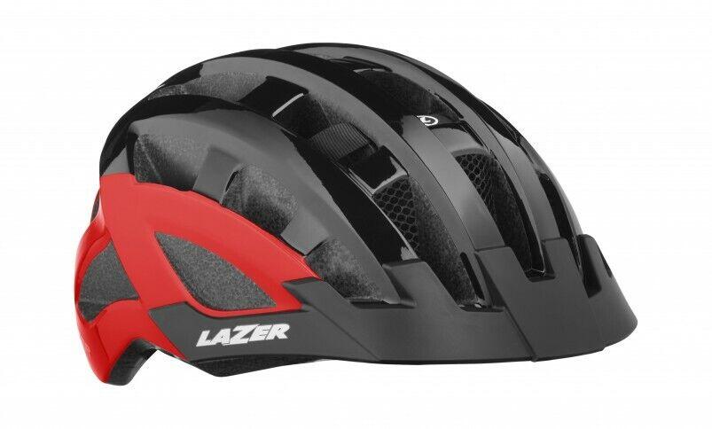 Nuevo  Lazer Mujer Compacto DLX Casco para ciclismo-Uno Tamaño-Negro Rojo  oferta de tienda
