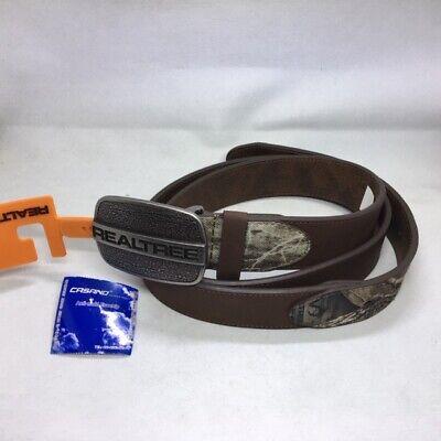 Realtree Mens 1.5 Wide Camo Reversible Belt
