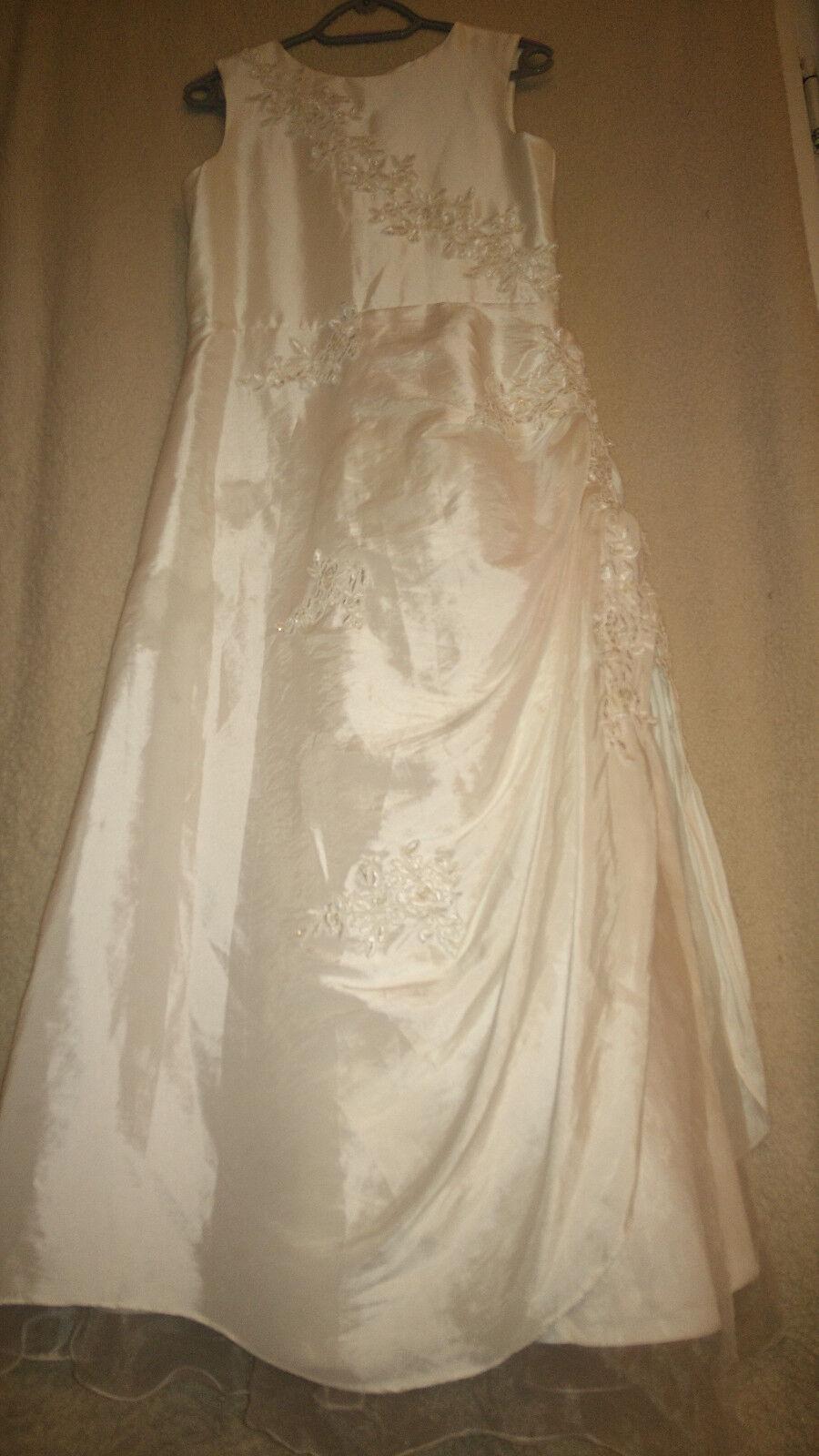 Gr. 36 38 Hochzeit Ball Kleid Prinzesin weiß schön Maße beachten