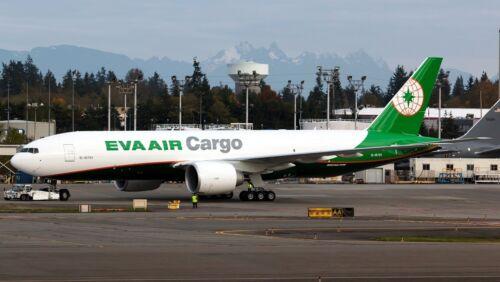Lrf Jc Flügel Jc2039 1/200 Eva Luft Fracht Boeing 777-200 B-16781 mit