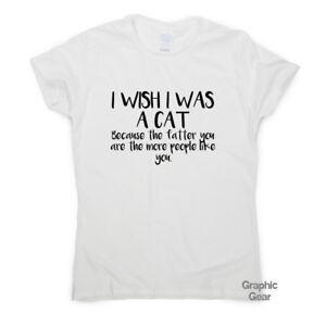 20359c07cef53c I wish I was a Cat - Funny gym t shirt gift mens womens fitness tee ...