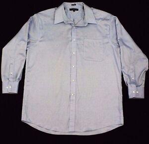Tommy-Hilfiger-Men-039-s-Shirt-Blue-Size-M-17-32-33-Long-Sleeve-Button-Front-Pocket