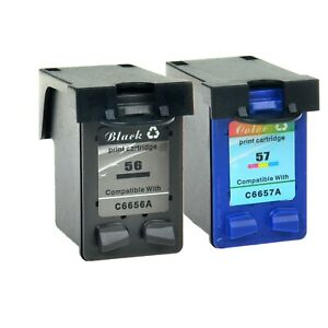 Black-Color-Ink-Cartridge-for-HP-56-57-C6656AN-C6657AN-Officejet-4105-4110