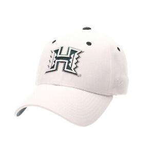 HAWAI-039-I-RAINBOW-WARRIORS-NCAA-WHITE-FLEX-CAP-HAT-ZH-Z-FIT-SIZE-M-L-NWT-HAWAII