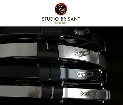 Contec Aluminium Schutzbleche / Set in silber + schwarz in 32 mm oder 42 mm