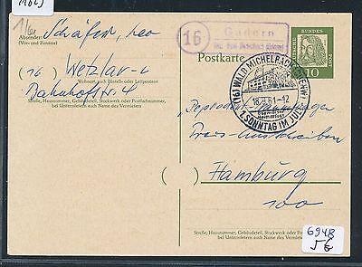 odenw KüHn 91623 Brd Landpost Ra2 16 Gadern über Wald-michelbach + Sst 1961