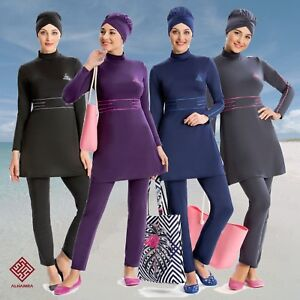 AlHamra-AL8207-Modest-Burkini-Swimwear-Swimsuit-Muslim-Islamic-3-piece-UK-10-18