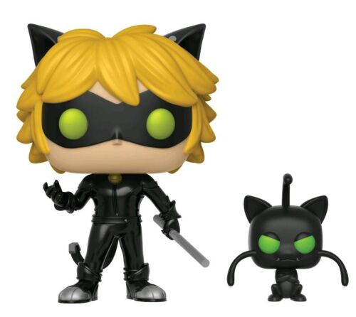 Miraculous Tales of Ladybug /& Cat Noir Vinyl Cat Noir with Plagg Pop
