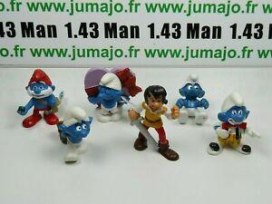 LOT4-Figurine-PVC-schleich-6-SCHTROUMPF-smurf-puffi-pituffo