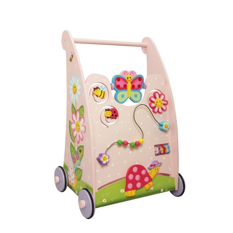 Phantasie Felder Zauberei Garten Holz Baby Activity Walker Spielzeug 6m+