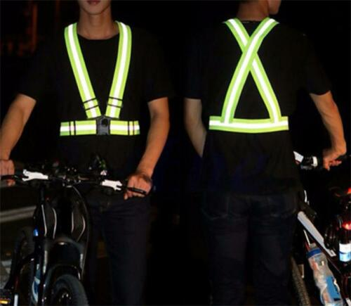 Reflective  Adjustable Safety Security Vest High Visibility Gear Stripes Jacket