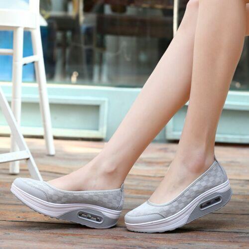 HOT Shape Ups Wandern Eignung Tönend Schuhe Plateau Keilabsatz Sneakers