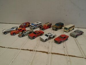 Hot-Wheels-Vintage-1970s-Lot-of-12-All-Hong-Kong-Police-Fire-Chief-Fire-Truck