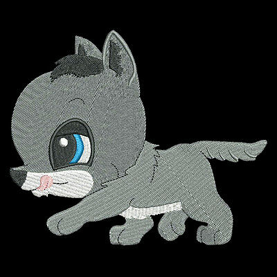 CUTE BABY WOLF - 30 MACHINE EMBROIDERY DESIGNS (AZEB)