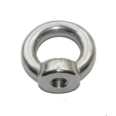 5x Eye Nut 316 Stainless Steel 5 6 8 10 12mm Steel Marine Grade Shade Sails Bolt