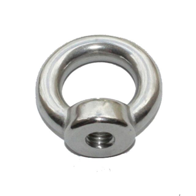 5x Eye Nut 316 Stainless Steel 6 8 10 12 mm Steel Marine Grade Shade Sails Bolt