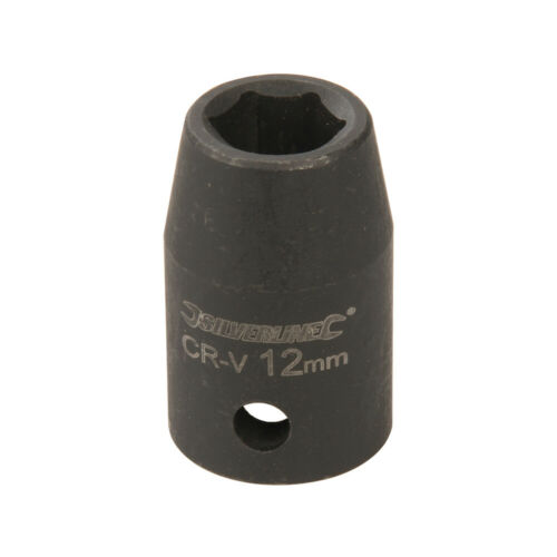 """12mm IMPACT Driver Socket–6 Point ½"""" Ratchet Spanner Bit–Steel Square Drive Tool"""