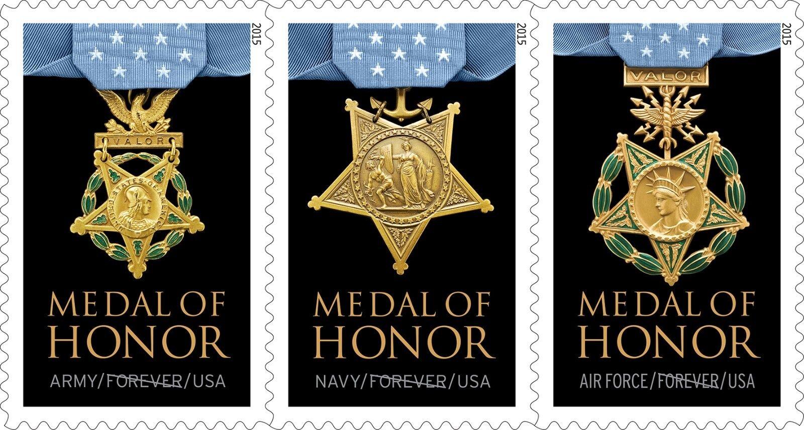 2015 49c Medal of Honor, Strip of 3, Vietnam War Scott