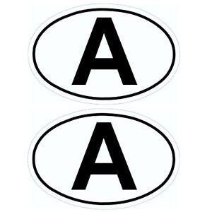 Zwei-Austria-A-Schild-A-Schilder-Aufkleber-Osterreich-13-5-cm-von-HR-RICHTER