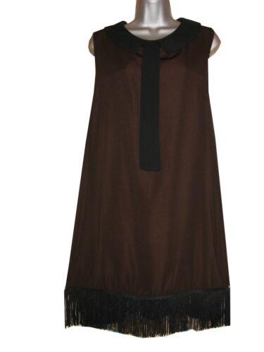 Plus Taille Frange Sans Manche Peter Pan Col Tunique//Robe