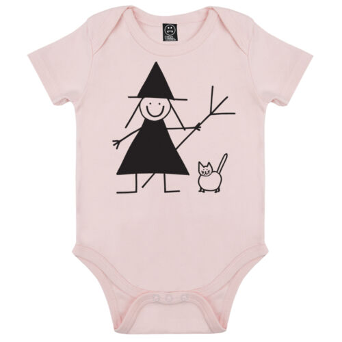 HALLOWEEN CUTE WITCH AND CAT SHORT SLEEVE GIRLS FANCY DRESS BABYGROW PLAYSUIT