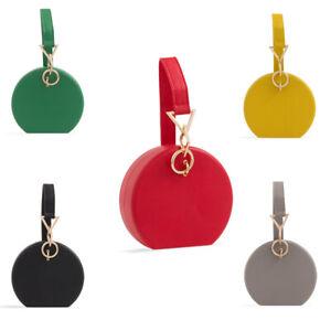 Ladies-Box-Clutch-Bag-Wrist-Strap-Evening-Bag-Girls-Party-Prom-Handbag-kZ2423