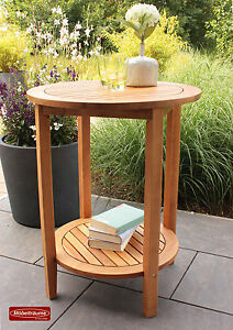 beistelltisch bali 60 cm rund x 75 cm hoch holztisch tisch. Black Bedroom Furniture Sets. Home Design Ideas