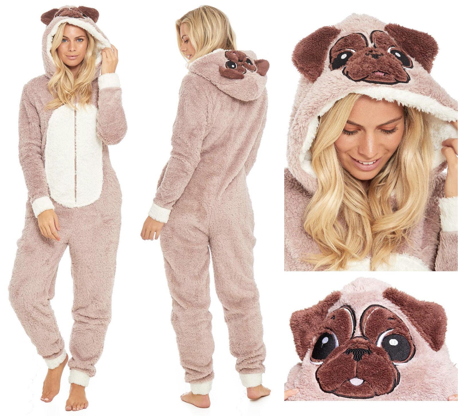 Mujer Novedad Polar Dos Piezas Animal Liso Unicornio Ropa C/ómoda Set Pijama