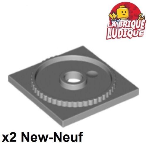 Lego 2x turntable plaque tournante square base 4x4 light bluish gray 61485 NEW