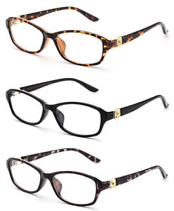 e14fdfba42270 Image is loading Women-Fashion-Readers-Elegant-Frame-Reading-Glasses-Gold-