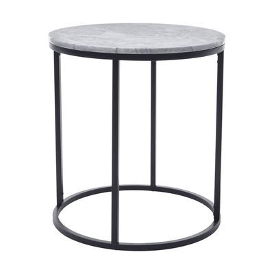 Marble Stone Side Table Bedside Home Living Room Modern Office Display Scandi