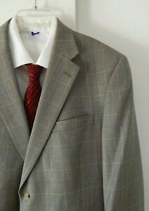 mens multi color AUSTIN REED jacket blazer sport coat plaid classic 2 btn 44R