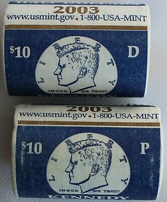 1990-1999 P and D Kennedy Half Dollar 20 BU Coins UNC Mint Set 50c Cello Lot