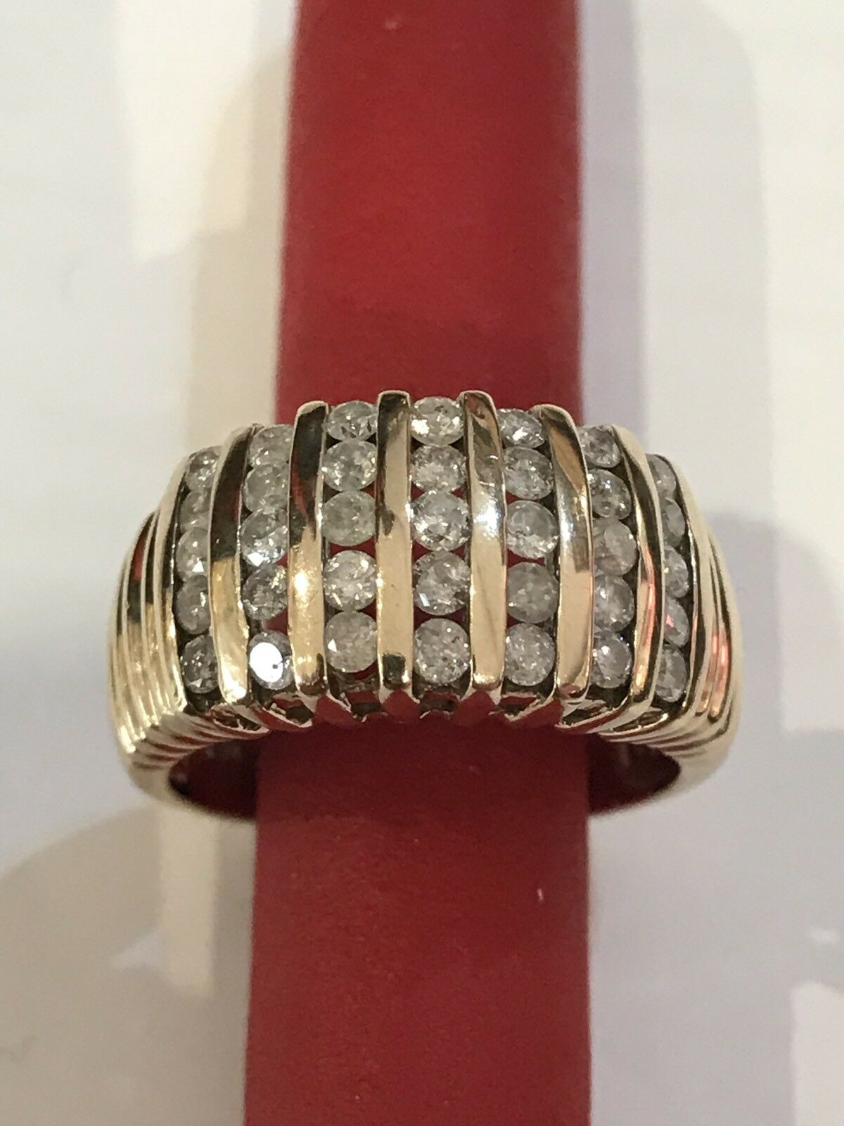 10k Solid Yellow gold Natural Diamonds Ring