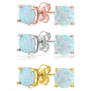 Fiery-White-Synthetic-Opal-Round-Ball-Screwback-Stud-Earrings-in-14k-Yellow-Gold