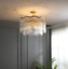 thumbnail 2 - Modern Crystal Gold Chandelier Round Glass Dining Room Living Light Fixture