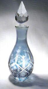 VINTAGE LAURA ASHLEY CUT FLASHED GLASS